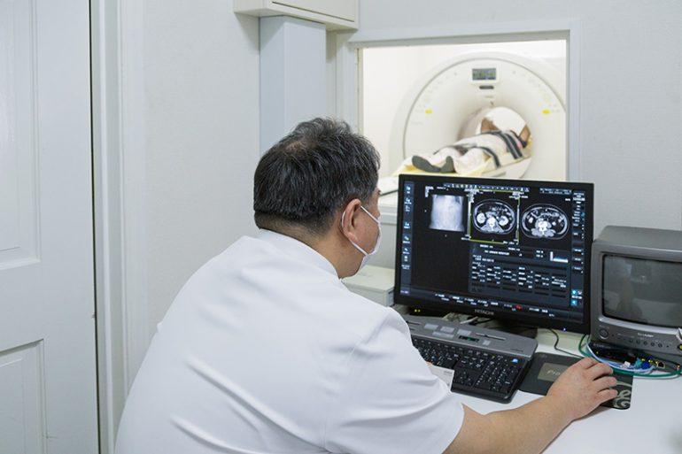 CT検査機器など他設備も多数揃えているので、総合的な診断も可能